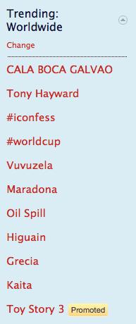 Twitter trending topics - j