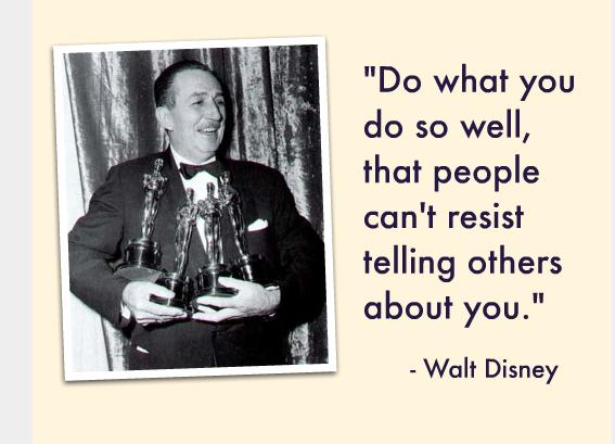 walt disney explains word-of-mouth
