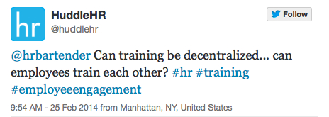 Can employees train each other